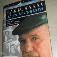 Cine: SI YO TE CONTARA PACO RABAL EDITORIAL EL PAÍS Y AGUILAR AÑO 1994. Lote 46918800