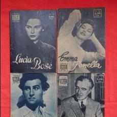 Cine: IDOLOS, LOTE 6 BIOGRAFIAS, L.BOSÉ, E.PENELLA, S.GRANGER, V.DE SICA, G.FORD,G.PECK. LI2. Lote 51155338