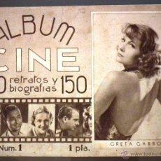Cine: ÁLBUM CINE: 150 RETRATOS Y BIOGRAFÍAS. NÚM. 1. Lote 53004168