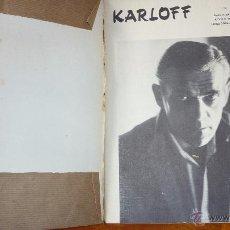 Cine: BORIS KARLOFF . ALAN BARBOUR CINEFAX 1969 FOTOS DE PELICULAS FRANKESTEIN WALKING DEAD , THE RAVEN. Lote 54706377