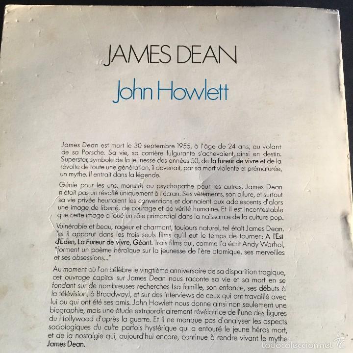 Cine: LIBRO JAMES DEAN. JOHN HOWLETT. ALBIN MICHEL ROCK & FOLK. 1975 TEXTO FRANCES - Foto 16 - 56334019