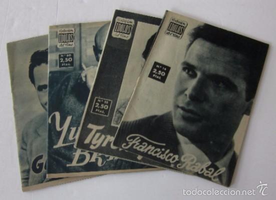 4 COLECCION IDOLOS DEL CINE: FRANCISCO RAVAL, TYRONE POWER, YUL BRYNNER, GLEEN FORD (Cine - Biografías)