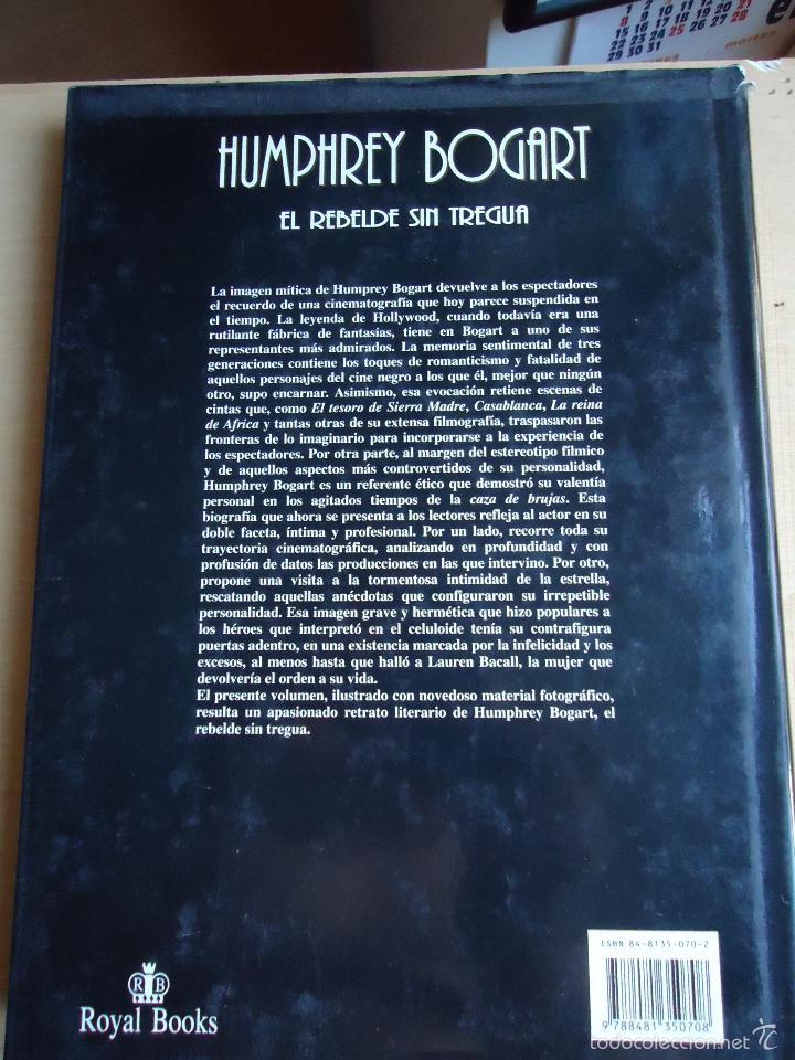 Cine: LIBRO HUMPHREY BOGART, ( EL REBELDE SIN TREGUA.)TODAS SUS PELÍCULAS Y CIENTOS DE FOTOS - Foto 2 - 58159814