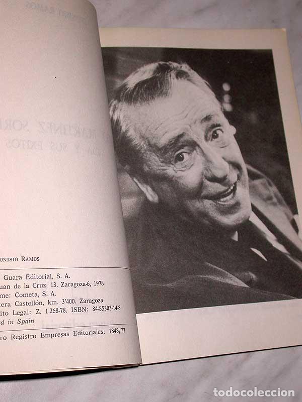 Cine: PACO MARTÍNEZ SORIA. SU VIDA Y SUS ÉXITOS. DIONISIO RAMOS. GUARA, 1978. FOTOS, CINE, TEATRO. +++++++ - Foto 2 - 62169736