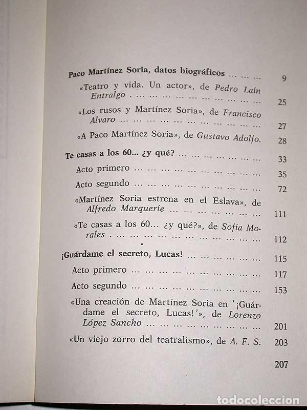 Cine: PACO MARTÍNEZ SORIA. SU VIDA Y SUS ÉXITOS. DIONISIO RAMOS. GUARA, 1978. FOTOS, CINE, TEATRO. +++++++ - Foto 5 - 62169736