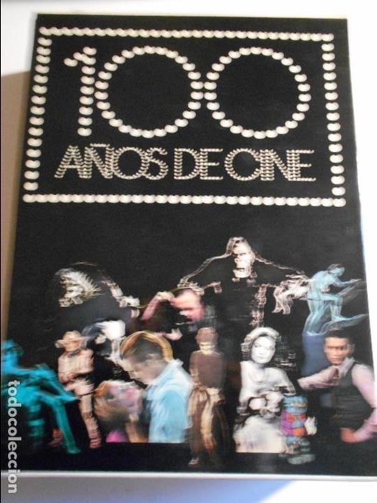100 AÑOS DE CINE. 2 TOMOS EN UN ESTUCHE. TAPA DURA EN TELA. GRAN FORMATO. DIFUSORA INTERNACIONAL. 19 (Cine - Biografías)