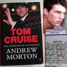Cine: TOM CRUISE - UNA BIOGRAFÍA NO AUTORIZADA - LIBRO ANDREW MORTON - ACTOR DE CINE EEUU - FOTOS - ÍDOLO. Lote 69624021