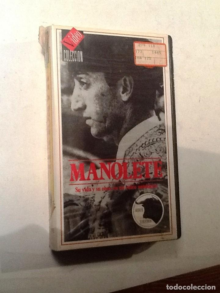 MANOLETE SU VIDA Y SU OBRA. VHS NUEVO CON PRECINTO ORIGINAL. SERIE TOREROS (Cine - Biografías)