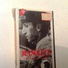 Cine: MANOLETE SU VIDA Y SU OBRA. VHS NUEVO CON PRECINTO ORIGINAL. SERIE TOREROS. Lote 72219271