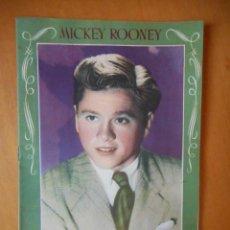 Cinema: MICKEY ROONEY. LA HISTORIA DE MI VIDA. QUIEN SOY YO. EDITORIAL BRUGUERA. AÑOS 40. TIENE 16 PÁGINAS. Lote 83643648