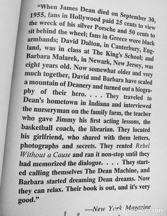 Cine: James Dean. The Mutant King. Biografía, más de 100 fotos exclusivas. Dell, New York, 1975 - Foto 2 - 94078585
