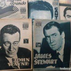 Cine: LOTE 5 REVISTAS BIOGRÁFICAS CINE AÑOS 50:MARLON BRANDO,TYRONE POWER,JOHN WAYNE,JAMES STEWART,CANTINF. Lote 94794035