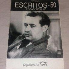 Cinema: REVISTA • EDGAR NEVILLE (FILMOTECA ESCRITOS - 20 PAG). Lote 121534318