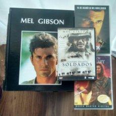 Cine: MEL GIBSON. LOTE DE DVDS Y LIBRO BIOGRÁFICO EN ESPAÑOL.. Lote 109021216