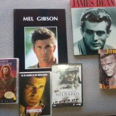 Cine: MEL GIBSON Y JAMES DEAN MAS DVDS DE CINE.. Lote 109021216