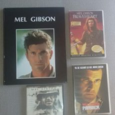 Cine: MEL GIBSON. LOTE LIBRO Y DVDS CINE. ACTOR DE CINE.. Lote 127814679