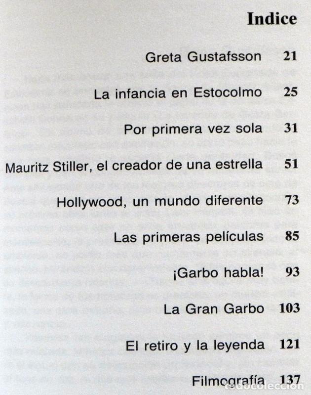 Cine: GRETA GARBO LIBRO BIOGRAFÍA - MARCELO DI PIETRO -CON FOTOS DE LA ACTRIZ SUECA CINE ÍDOLO MITOGRAFÍAS - Foto 3 - 128501299