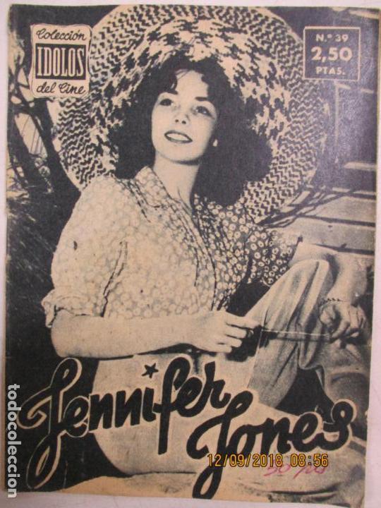 COLECCIÓN ÍDOLOS DEL CINE. Nº 39. JENNIFER JONES. 1958 (Cine - Biografías)