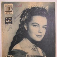 Cine: COLECCIÓN ÍDOLOS DEL CINE. Nº 30. ROMY SCHNEIDER. 1958. Lote 133075578