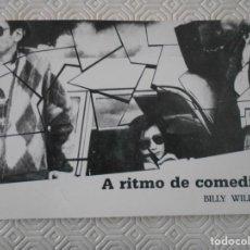 Cine: A RITMO DE COMEDIA. BILLY WILDER. AULA 7. COLEGIOS MAYORES UNIVERSITARIOS DE MADRID. 1989. 38 PAGINA. Lote 134100330