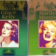Cinema: MARILYN MONROE Y GRACE KELLY, PERSONAJES DEL SIGLO XX,EDICIONES RUEDA J.M. 2002 Y 2000. Lote 26603620