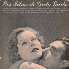 Cine: LOS FILMS DE GRETA GARBO - MICHAEL CONWAY, DION MCGREGOR, MARK RICCI - AYMÁ, S.A. EDITOR 1º ED. 1979. Lote 139405074