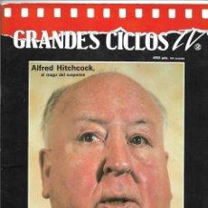 Cine: ALFRED HITCHCOCK, GRANDES CICLOS TV. Nº 2. TODAS LAS CARATULAS DEL CICLO. Lote 139925930