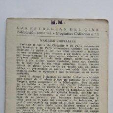 Cine: LAS ESTRELLAS DEL CINE, COLECCION BIOGRAFIAS Nº 1. Lote 145845586