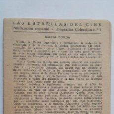 Cine: LAS ESTRELLAS DEL CINE, COLECCION BIOGRAFIAS Nº 7. Lote 145845750