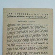 Cine: LAS ESTRELLAS DEL CINE, COLECCION BIOGRAFIAS Nº 11. Lote 145845878