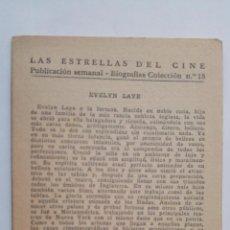 Cine: LAS ESTRELLAS DEL CINE, COLECCION BIOGRAFIAS Nº 18. Lote 145847894