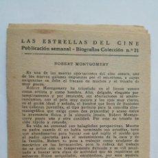 Cine: LAS ESTRELLAS DEL CINE, COLECCION BIOGRAFIAS Nº 21. Lote 145848498