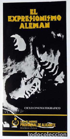 CINE DÍPTICO CICLO EXPRESIONISMO ALEMÁN 1985 CAJA AHORROS PROVINCIAL DE ALICANTE (Cine - Biografías)