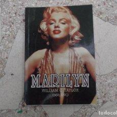 Cine: MARILYN ,WILLIAM C. TAYLOR, IBERLIBRO, 126 PAGINAS, CON FOTOS EN SEPIA, 2000, 12X17,TAPA BLANDA. Lote 155779566