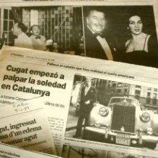 Cine: MUERE XAVIER CUGAT (NOTICIA DE PRENSA ORIGINAL OCT 1990) PERIODICO (SOLO 2 HOJAS DEL REPORTAJE). Lote 160850446