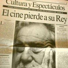Cine: MUERE FERNANDO REY (NOTICIA DE PRENSA ORIGINAL MAR 1994) LA VANGUARDIA (SOLO 3 HOJAS DEL REPORTAJE). Lote 160855150