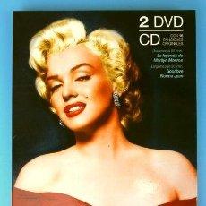 Cine: MARILYN MONROE - BIOGRAFIA - PACK EDICIÓN ESPECIAL COLECCIONISTA: 2 DVDS (FILM Y DOCUMENTAL) + 1 CD. Lote 166783374