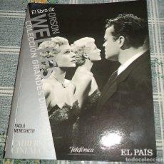 Cine: EL LIBRO DE ORSON WELLES BIOGRAFÍA PAOLO MEREGHITTI 2.008 PASTA SEMIRIGIDA 96 PAGINAS. Lote 176944914