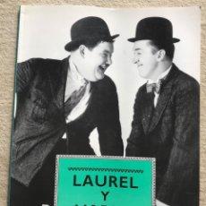 Cine: LAUREL Y HARDY - LIBRO DE FOTOGRAFÍAS - GRAN FORMATO 27,5 X 37,5 - EDITORIAL LIBSA - AÑO 1991. Lote 180111908