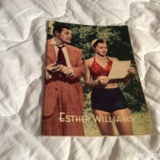 Cine: ALBUM DOS ARTISTAS. BIOGRAFIA ILUSTRADA DE ESTHER WILLIAMS . AÑOS 50 - 60. Lote 180213696
