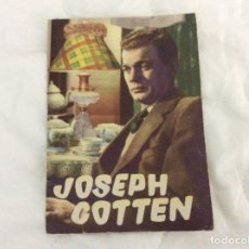 Cine: ALBUM DOS ARTISTAS. BIOGRAFIA ILUSTRADA DE JOSEPH COTTEN . AÑOS 50 - 60. Lote 180213761