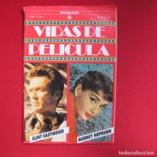 Cine: VIDAS DE PELÍCULA Nº 3. CLINT EASTWOOD Y AUDREY HEPBURN. Lote 191165535