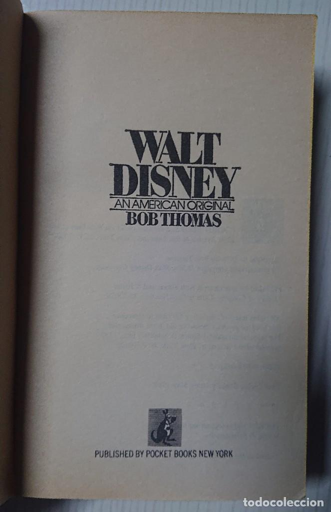 Cine: WALT DISNEY An American Original by Bob Thomas · Pocket Books New York 1980 - Foto 2 - 191926822