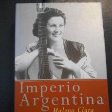 Cine: IMPERIO ARGENTINA. MALENA CLARA. TEMAS DE HOY. MEMORIAS. AÑO 2001. TAPA DURA CON SOBRECUBIERTA. CON. Lote 216953617
