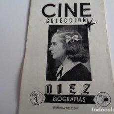 Cine: CINE COLECCIÓN. DIEZ BIOGRAFÍAS. SEGUNDA EDICIÓN. DESPLEGABLE ACORDEÓN.. Lote 193290048
