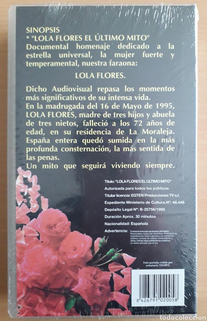 Cine: CINTA VHS de 30 minutos que narra LA BIOGRAFÍA DE LOLA FLORES - LA FARAONA: PRECINTADA/SIN ESTRENAR - Foto 2 - 194293092