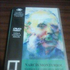 Cine: 1. DVD. NARCIS MONTURIOL. TÈCNICA I COMPROMÍS SOCIAL. CATALÀ, CASTELLÀ, ANGLÈS.60 MINUTS. 2002. Lote 194405966