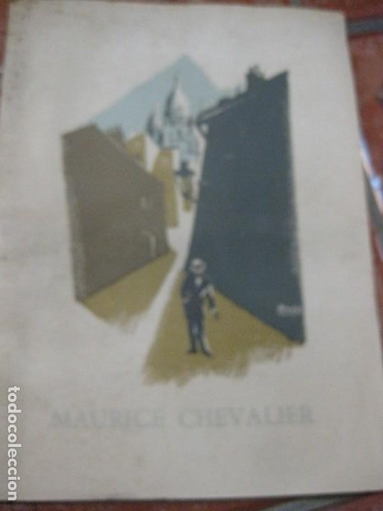 PROGRAMA LIBRO MAURICE CHEVALIER BIOGRAFIA DISCOS PUBLICIDAD CHANEL LITOGRAFIA BADIA VILATO (Cine - Biografías)