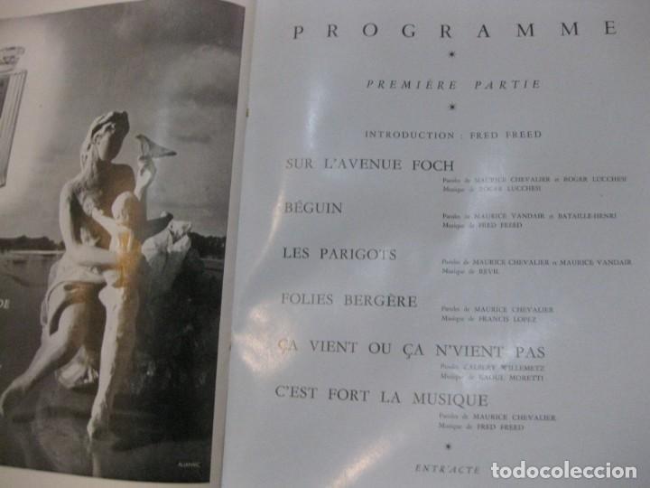 Cine: programa libro maurice chevalier biografia discos publicidad chanel litografia badia vilato - Foto 8 - 194747057