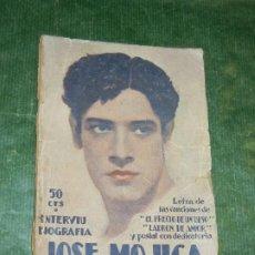 Cine: JOSE MOJICA. INTERVIU Y BIOGRAFIA - ED.BISTAGNE 1930. Lote 195300766